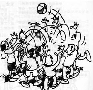 团队游戏垫气球